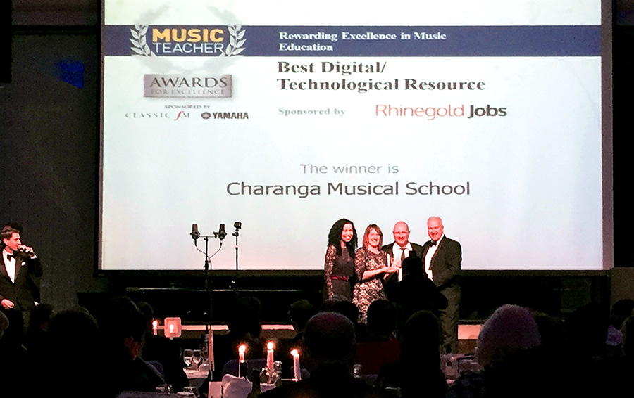 Charanga wins 'Best Digital Resource 2015' at the Music Teacher Awards